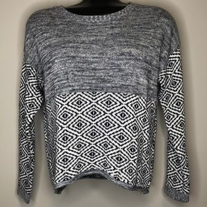 Obey mixed grey oversized long sleeve knit logo lightweight sweater Size Small
